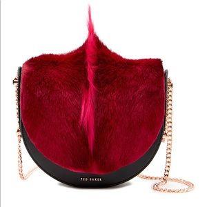 Ted Baker Alisonn Leather Genuine Springbok Bag